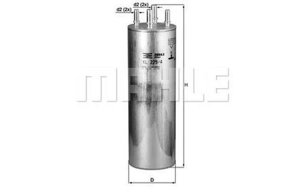 KNECHT Filtro combustible VOLKSWAGEN TRANSPORTER TOUAREG MULTIVAN KL 229/4