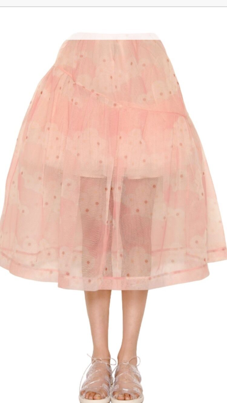 Sold Out   GORGEOUS SIMONE ROCHA FLOWER PRINTED TULLE SKIRT  1280.00, NWT