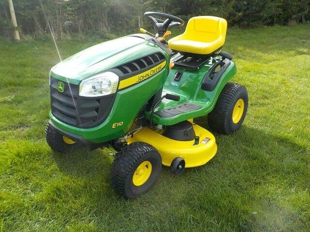 john deere x350 petrol ride on lawnmower for sale online