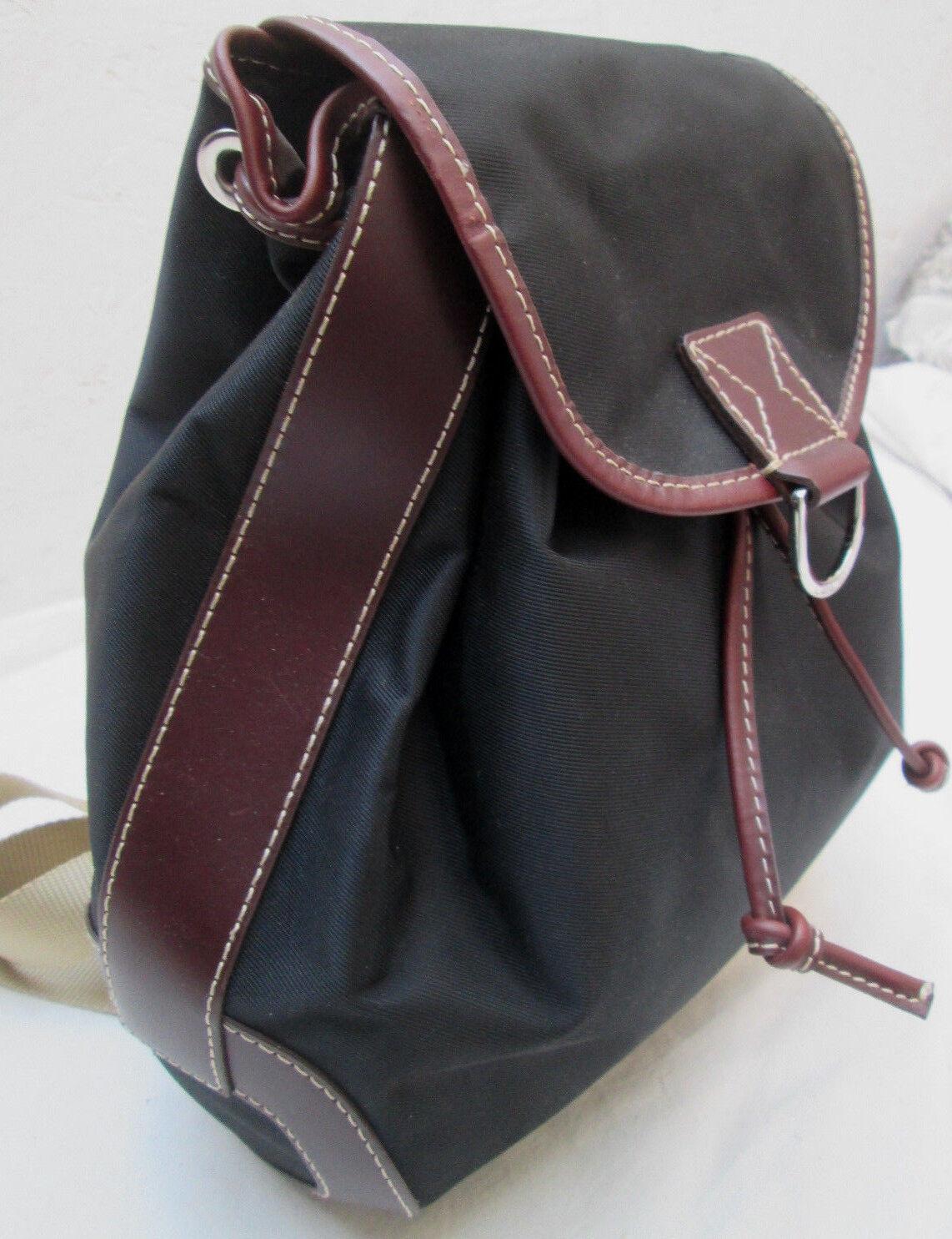 AUTHENTIQUE  sac à à à dos LANCEL   toile et cuir   TBEG vintage bag 482bac