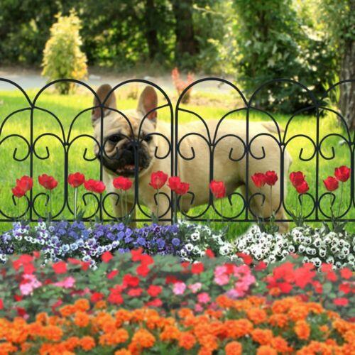 "Border Concise Design 18/"" x 18/"" 5 Panels Furnishing Welded Iron Garden Fence"