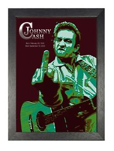 Johnny Cash 1 American Music Country Blues Singer Poster Star Legend Picture