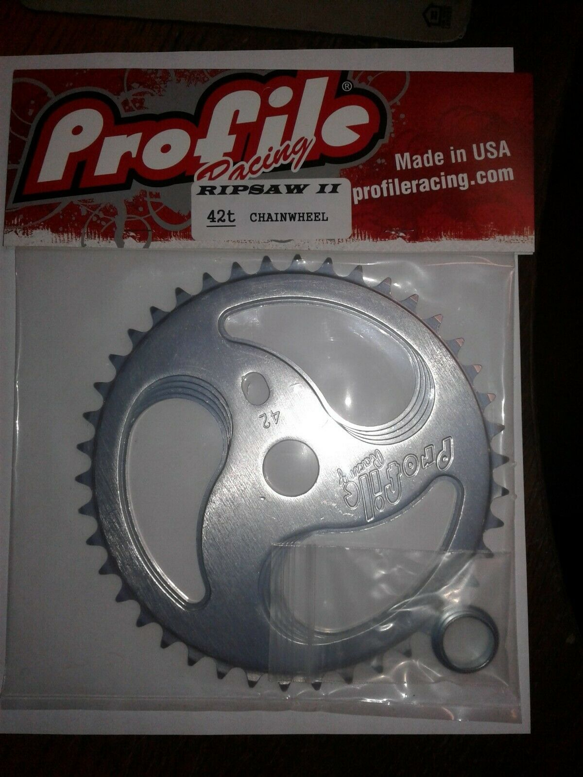 NOS Profile HURRICANE 41T Sprocket Polished BMX Chainwheel Mid School Old