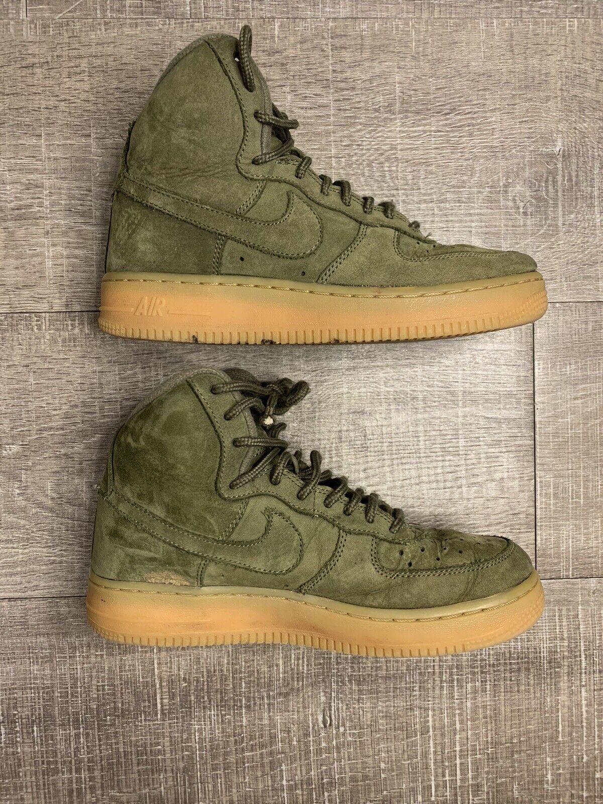 Nike Air Force 1 High Olive Leather AF1