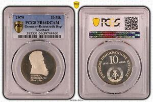 DDR 10 Mark 1979 Ludwig Feuerbach PCGS PR66DCAM 51836