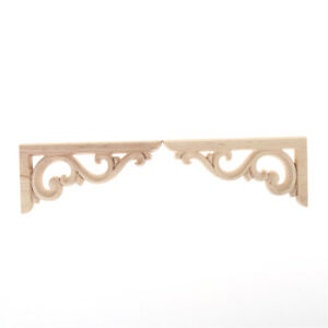 1Pair-Europe-Style-Exquisite-Wood-Carved-Applique-Furniture-Home-Wall-Decor
