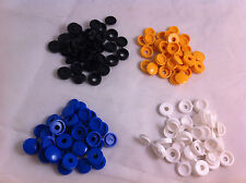 64 Pack Plastic Nylon Hinged Screw Cover Caps Flip Tops White Black Yellow Blue