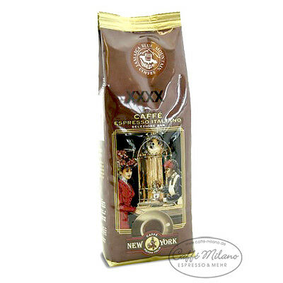 New York extra XXXX Caffe Espresso Feinschmecker 250g - Bohnen - Caffe Milano