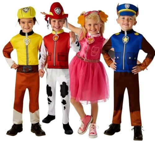 Bambino Paw Patrol Costume Marshall chase rubble Skye Libro Settimana Party