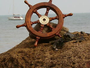 Ships-wheel-460-mm-across-maritime-18-inches-Nice-Size-Pirate