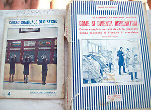 1930-LOTTO-DI-LIBRI-E-MANUALI-SUL-DISEGNO-DI-MACCHINE-E-PER-SCOLARI