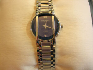 New Raymond Weil Othelo Mini RW.2012-ST-00580 Women Round Watch Quartz Blue Dial