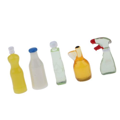 1:12 Puppenhaus Miniaturen Küche 5 Stück Reinigungsset Puppenhaus Zubehör