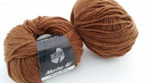 550 g Merino Air Farbe 25 braun Lana Grossa  90/% Merino Wolle 10/% Polyamid