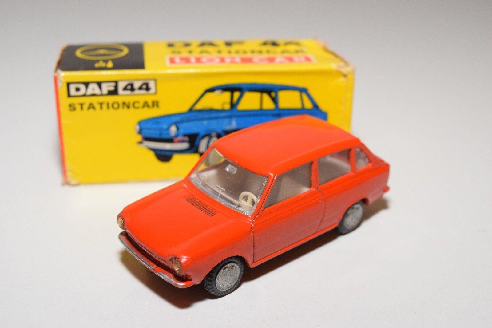 LION CAR DAF 44 CAR STATIONCAR WAGON  Rojo-Naranja NEAR MINT BOXED