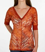 Top Bke Lace Top Rust Sz Xs From The Buckle