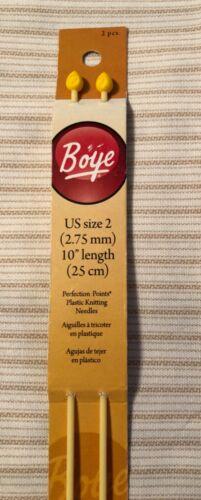 NEW Boye Knitting Needles Single Point Plastic Perfection Points Sizes FREE SHIP
