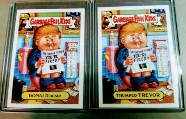 2004 GPK DONALD Dump / Trumped TREVOR - Garbage Pail Kids ANS3 - Mint condition