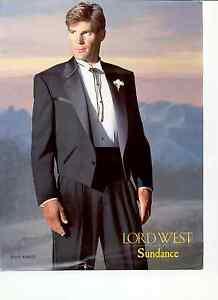 843bad9e Black Western Tuxedo Jacket - Waist Coat - Satin Notch Lapel & Yoke ...