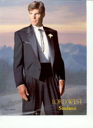 Black Western Tuxedo  Jacket Satin Notch Lapel /& Yoke Waist Coat