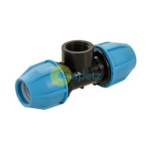 """MDPE Plastic Compression Fitting Water Pipe Joiner 20mm-1/""""BSP female"""
