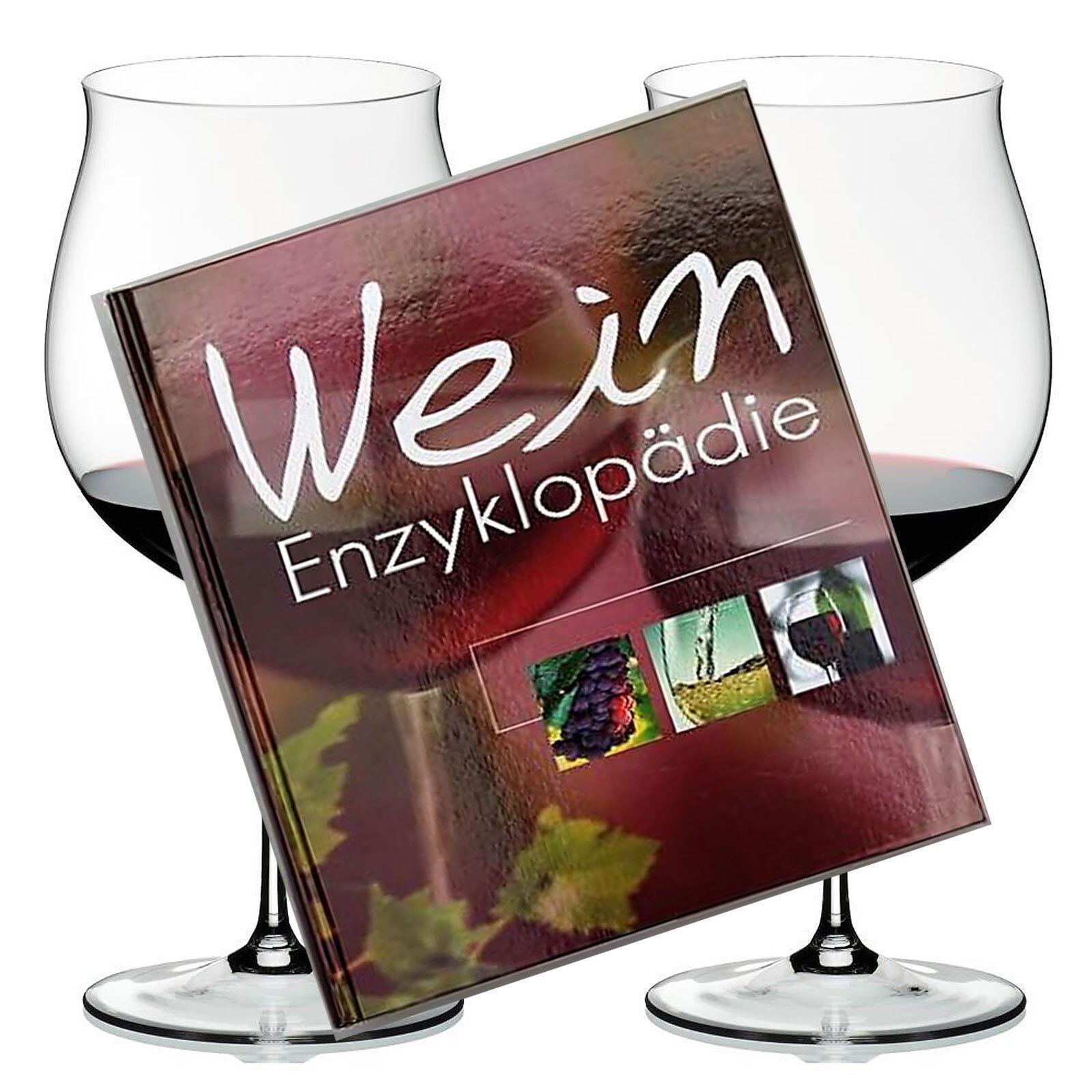 2 Riedel Sommeliers Bourgogne Grand Cru Verre Cristal Verre de Vin & LE VIN Encyclopédie