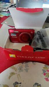 Nikon-Coolpix-S3700-20-1-MP-Camera-RED