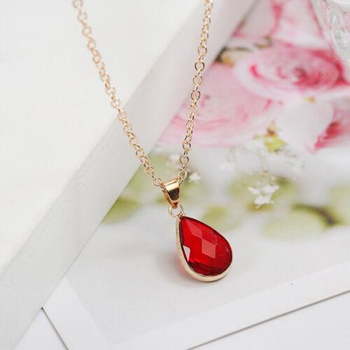 Energie Damen Halskette Naturstein Glas Bewusstsein Spirituell Schmuck Kette