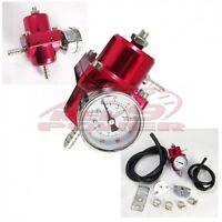Fuel Pressure Regulator With Gauge (red)