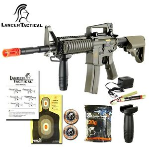 Lancer-Tactical-M4A1-RIS-Full-Metal-Gearbox-Electric-AEG-Airsoft-Gun-Rifle-Gen-2