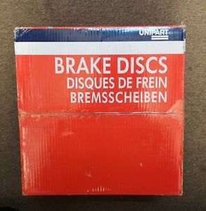 UNIPART-GBD501-FRONT-BRAKE-DISCS-PAIR-FOR-CITROEN-AND-PEUGEOT