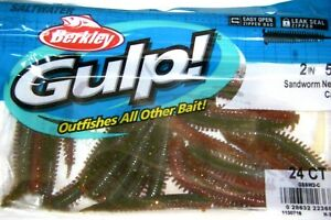 Berkley-Gulp-Saltwater-Fishing-Lure-2-034-SANDWORM-GSSW2-C-Camo