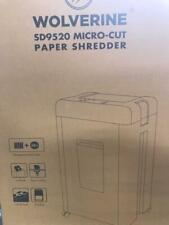 Wolverine 15 Sheet Super Micro Cut High Security Level P 5 Paper Shredder Sd9252