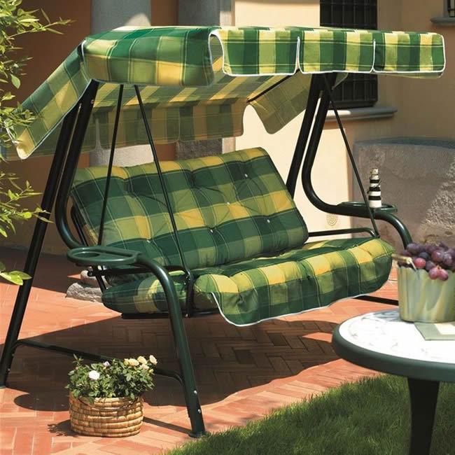 Dondolo giardino Lord 3 posti con varie fantasie di Scab Design struttura verde