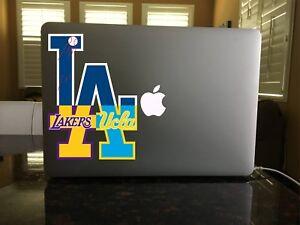 68-09 Los Angeles Dodgers Lakers UCLA Bruins Mash Up Logo Vinyl ... b8dfb613a