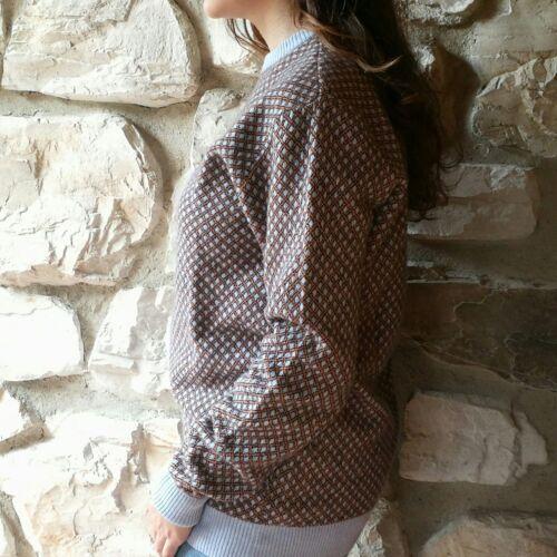 M Lana Anni Maglione Vintage Azzurro Quadri 80 Angora Unisex Cashmere Tartan qvfw06v
