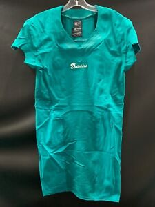 MIAMI-DOLPHINS-TEAM-ISSUED-BLANK-ON-FIELD-AQUA-JERSEY-SZ-38-2012-W-CUT-SLEEVES