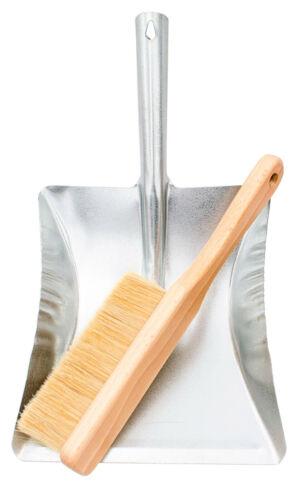 Besen mit Kehrschaufel Handbesen Naturborsten Kehrgarnitur Kehrblech Schaufel