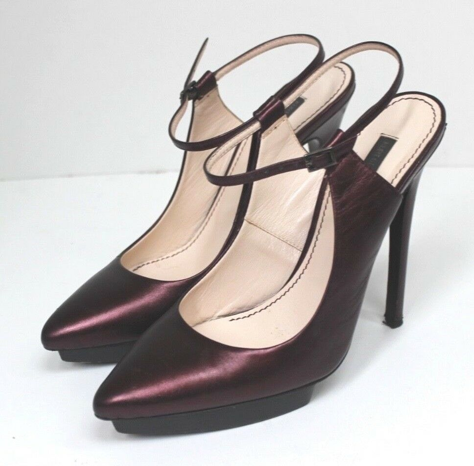 Moda barata y hermosa PVP  Kurt Geiger Elaine púrpura vino Tacones 40 Reino Unido 7