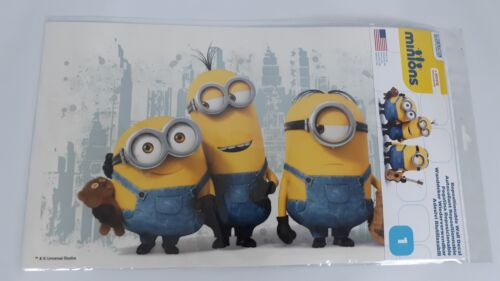 NEW 3 Minions Despicable Me Removable Wall Decal Kids Room Decor City Backround