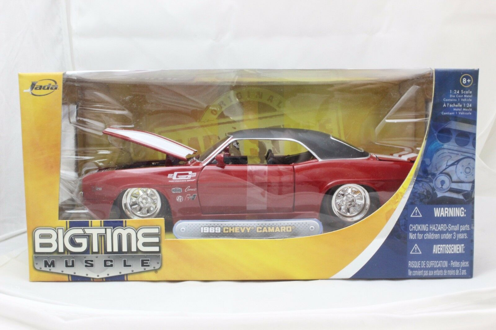JADA BIGTIME MUSCLE 1969 CHEVY CAMARO RED 1 24 NEW IN BOX VERY RARE