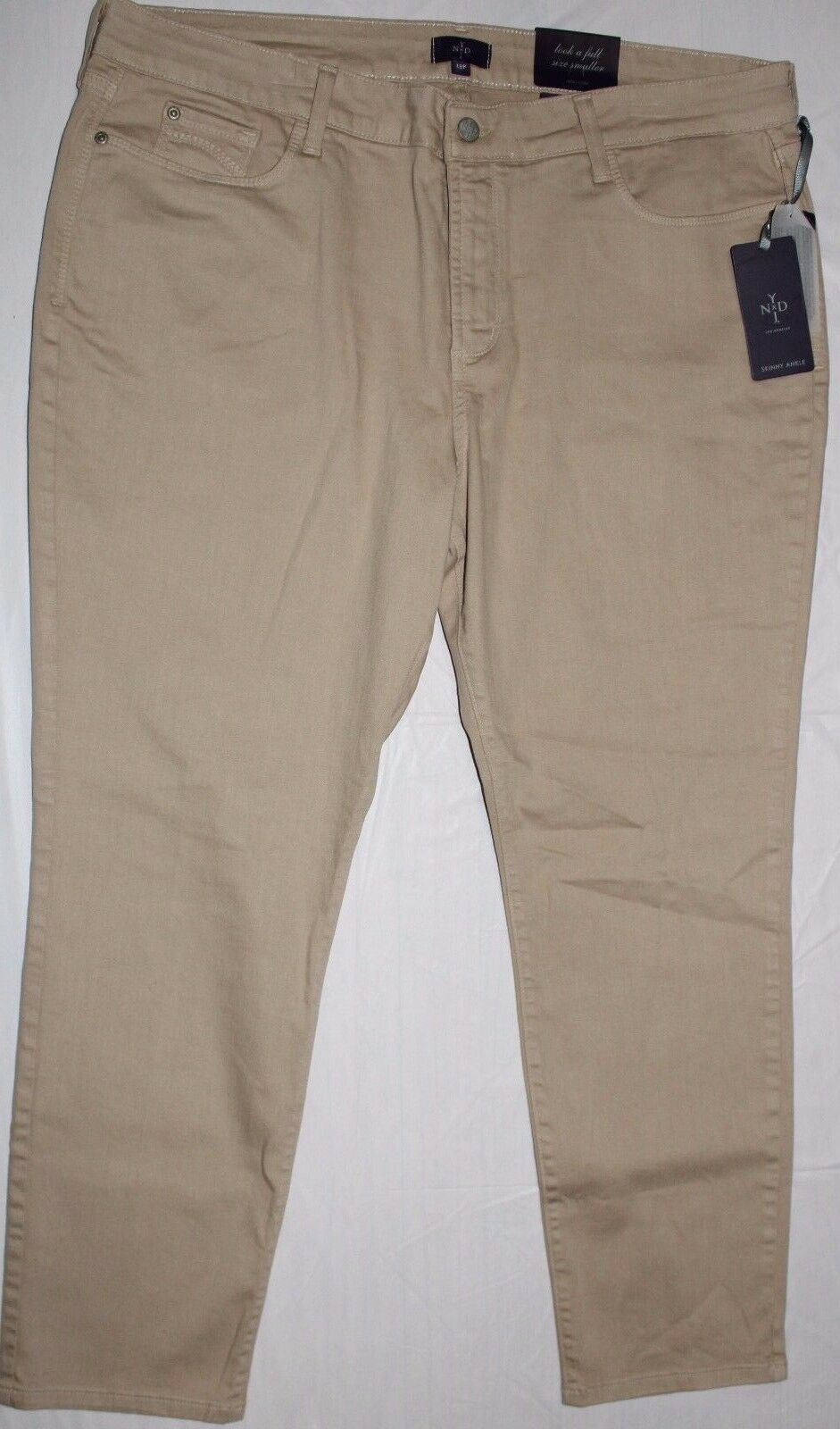 NYDJ NOT YOUR DAUGHTER'S JEANS ALMOND ANKLE PANTS SZ 18P