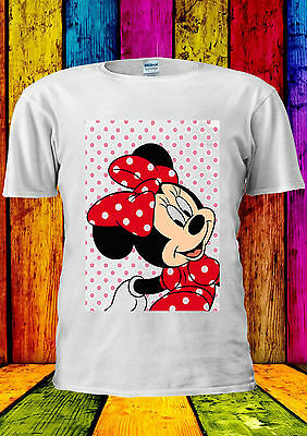 Disney Minnie Mouse Mickey Cute Girl T-shirt Canotta Tank Top Uomini Donne Unisex 373-mostra Il Titolo Originale