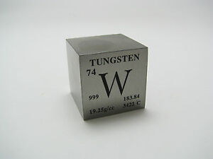 1 inch 254 mm pure tungsten metal element cube periodic table 9995 image is loading 1 inch 25 4 mm pure tungsten metal urtaz Image collections