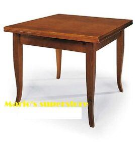 Tavolo piu 4 sedie allungabile noce cucina sala arte for Tavolo piu sedie