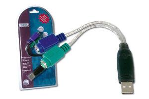 DIGITUS-ADATTATORE-PS2-USB-CON-MICROCHIP-PER-MOUSE-E-TASTIERA-ALTA-QUALITA-039