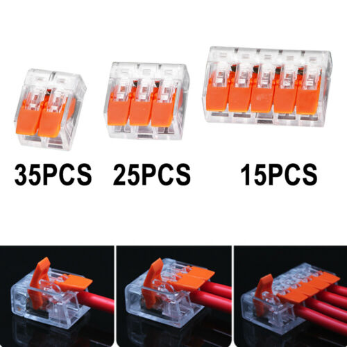 75 Pcs Lever Nuts Wire Connector Assortment Pack Compact Splicing Kit For Wires