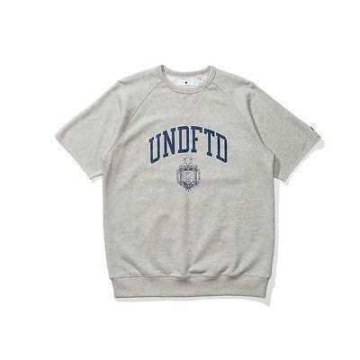 $64 Undefeated Uomo College Manica Corta Collo Tondo Maglione (grigio / Erica ) In Corto Rifornimento