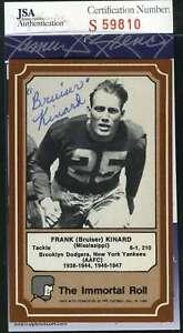Bruiser Kinard Jsa Coa Autograph 1975 Fleer Immortal Roll Authentic Hand Signed