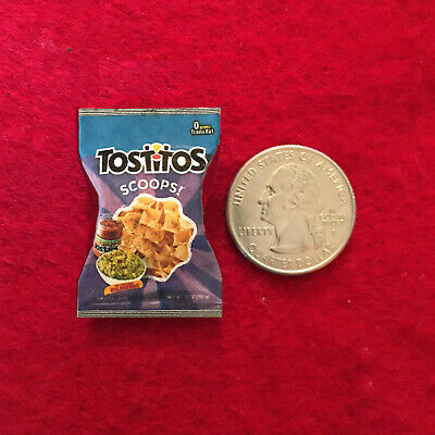 Dollhouse Miniature Bag of Tostitos and Jar of Salsa 1:12 Scale